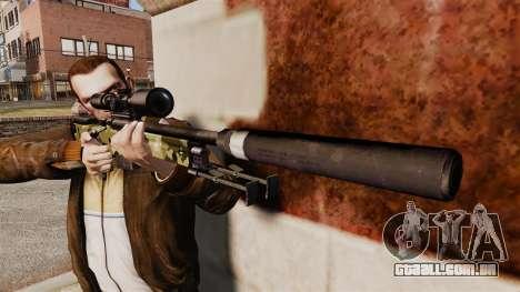 Rifle de sniper L115A1 AW com um silenciador v7 para GTA 4 terceira tela