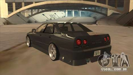 Nissan Skyline ER34 Street Style para GTA San Andreas vista traseira