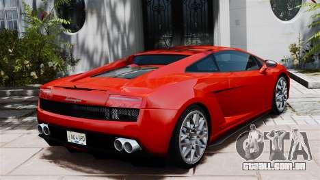 Lamborghini Gallardo LP560-4 [Final] v2 para GTA 4 traseira esquerda vista