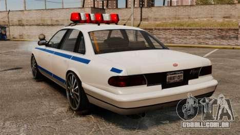 Polícia em uma unidades de 20 polegadas para GTA 4 traseira esquerda vista