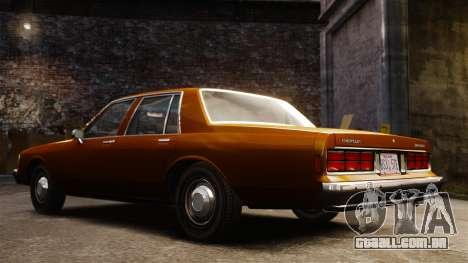 Chevrolet Caprice 1989 para GTA 4 vista interior