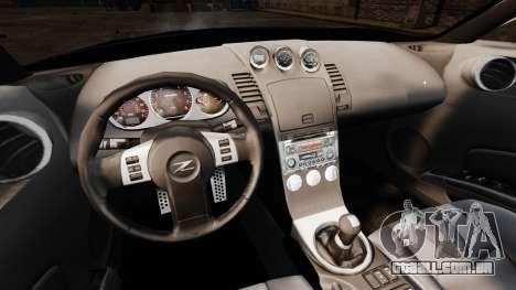 Nissan 350Z Tuning para GTA 4 vista interior