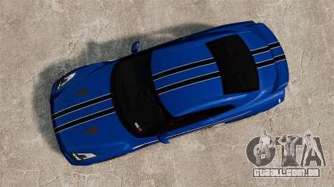 Nissan GT-R 2012 Black Edition AMS Alpha 12 para GTA 4 vista de volta