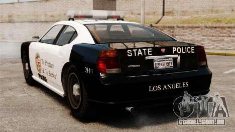 Buffalo policial LAPD v2 para GTA 4 traseira esquerda vista