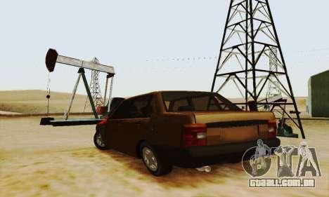 Fiat Duna para GTA San Andreas traseira esquerda vista