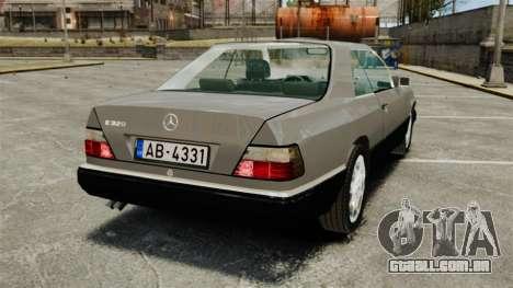 Mercedes-Benz W124 Coupe para GTA 4 traseira esquerda vista