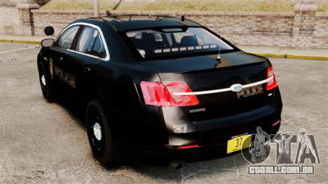 Ford Taurus Police Interceptor 2013 LCPD [ELS] para GTA 4 traseira esquerda vista