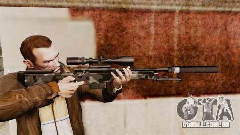 Rifle de sniper L115A1 AW com um silenciador v5 para GTA 4