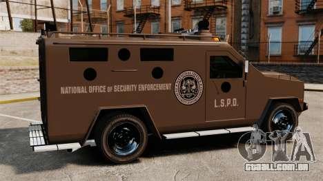 Lenco Bearcat blindado LSPD GTA V para GTA 4 esquerda vista