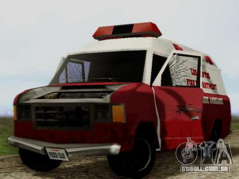 Vapid Ambulance 1986 para GTA San Andreas vista interior