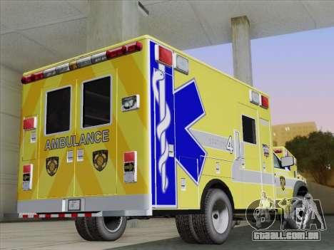 Dodge Ram Ambulance BCFD Paramedic 100 para GTA San Andreas vista direita