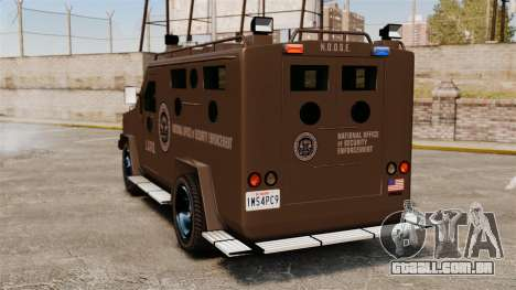 Lenco Bearcat blindado LSPD GTA V para GTA 4 traseira esquerda vista