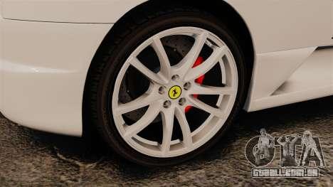 Ferrari F430 Scuderia 2007 Italian para GTA 4 vista de volta