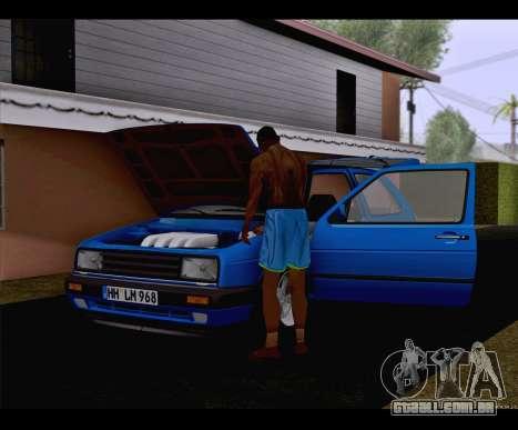 Volkswagen Golf Mk2 para GTA San Andreas traseira esquerda vista