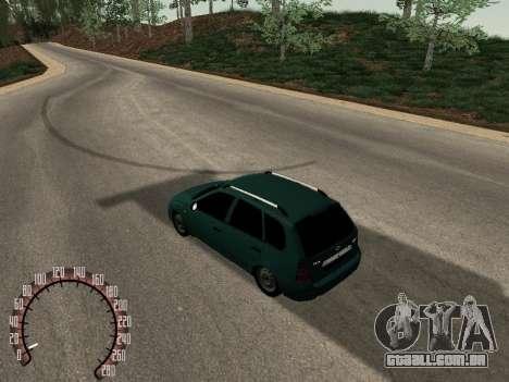 Kalina Lada 1117 para GTA San Andreas traseira esquerda vista
