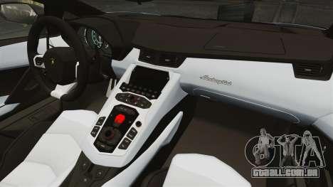 Lamborghini Aventador LP700-4 2012 EPM para GTA 4 traseira esquerda vista