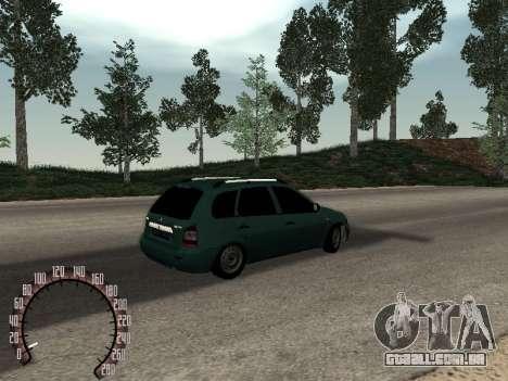 Kalina Lada 1117 para GTA San Andreas vista traseira