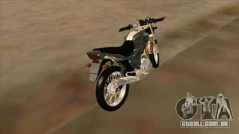 Yamaha YBR para GTA San Andreas traseira esquerda vista
