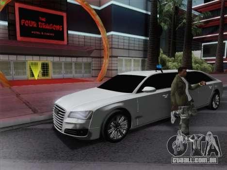 Audi A8 Limousine para GTA San Andreas esquerda vista