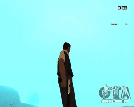 White Chrome Silenced para GTA San Andreas