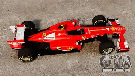Ferrari F138 2013 v5 para GTA 4 vista direita