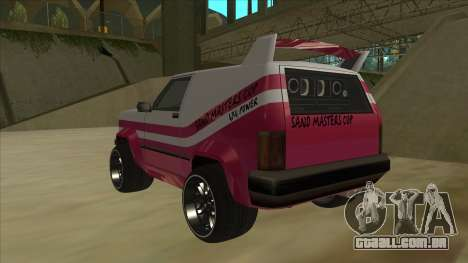 Sandking DUB para GTA San Andreas vista traseira