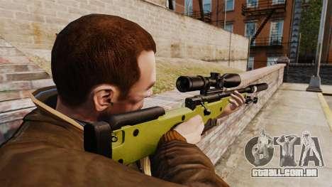 Rifle de sniper L115A1 AW com um silenciador v3 para GTA 4 segundo screenshot