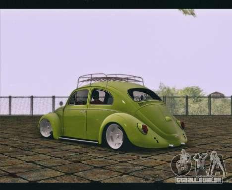 Volkswagen Beetle 1966 para GTA San Andreas esquerda vista