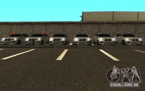 BMW X6 M com piscar luzes PPP para GTA San Andreas vista traseira