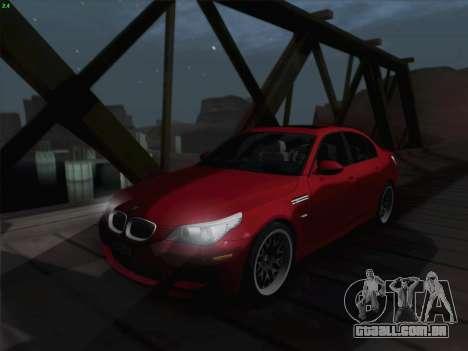 BMW M5 Hamann para GTA San Andreas vista superior
