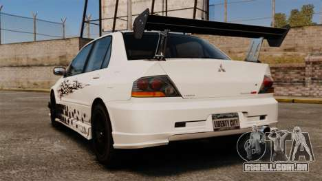 Mitsubishi Lancer Evolution VIII MR CobrazHD para GTA 4 traseira esquerda vista