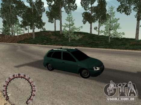 Kalina Lada 1117 para GTA San Andreas vista direita