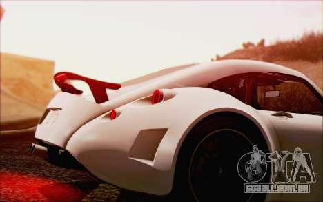 Wiesmann GT MF5 2010 para GTA San Andreas vista superior
