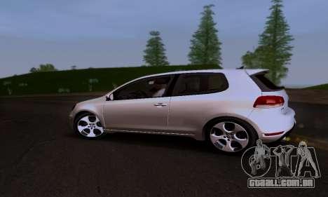 Volkswagen Golf 6 GTI para GTA San Andreas vista interior