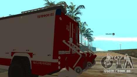 5245 ramaz MOE para GTA San Andreas traseira esquerda vista