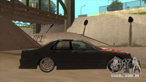 Nissan Skyline ER34 Street Style para GTA San Andreas traseira esquerda vista