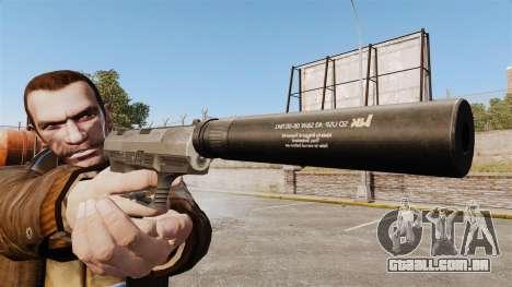 Walther P99 pistola semi-automática v2 para GTA 4 terceira tela