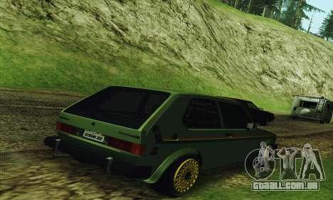 Volkswagen Rabbit GTI 1986 Cult Style para GTA San Andreas traseira esquerda vista