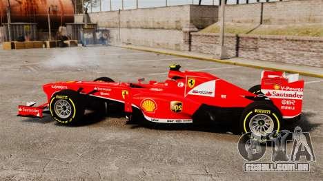 Ferrari F138 2013 v5 para GTA 4 esquerda vista