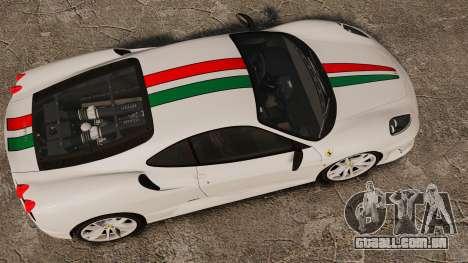 Ferrari F430 Scuderia 2007 Italian para GTA 4 vista direita