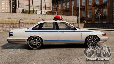 Polícia em uma unidades de 20 polegadas para GTA 4 esquerda vista