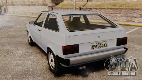Volkswagen Gol LS 1986 para GTA 4 traseira esquerda vista