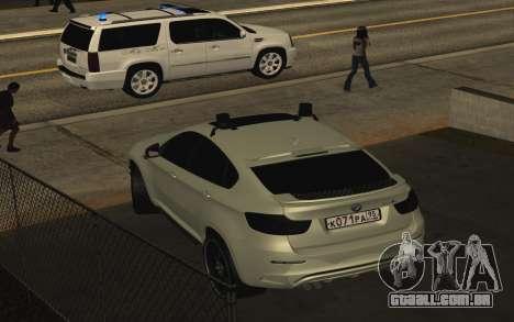 BMW X6 M com piscar luzes PPP para GTA San Andreas vista direita