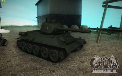 Modelo T-34-85 1945 para GTA San Andreas