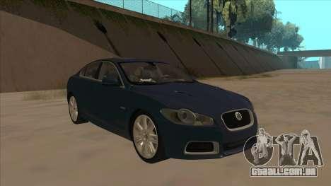 Jaguar XFR 2010 v1.0 para GTA San Andreas esquerda vista