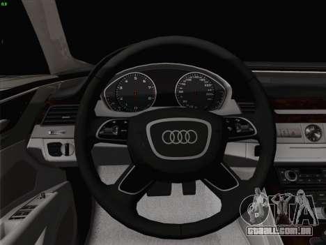 Audi A8 Limousine para GTA San Andreas vista inferior