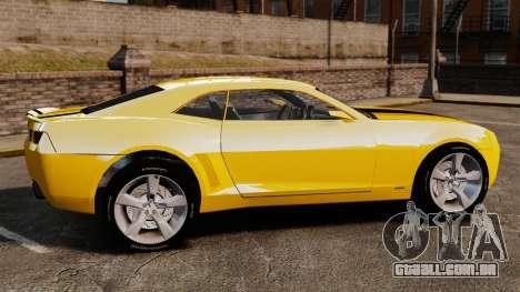 Chevrolet Camaro Bumblebee para GTA 4 esquerda vista