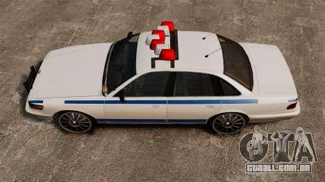 Polícia em uma unidades de 20 polegadas para GTA 4 vista direita
