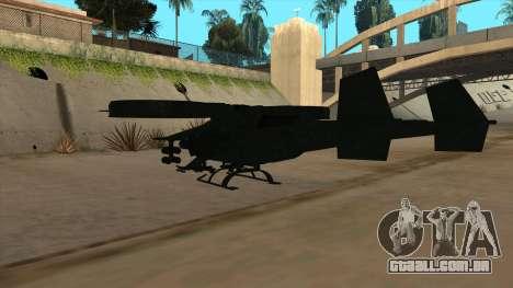 AT-99 Scorpion Gunship from Avatar para GTA San Andreas vista traseira