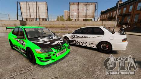 Mitsubishi Lancer Evolution VIII MR CobrazHD para GTA 4 vista lateral